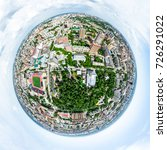 aerial city view with... | Shutterstock . vector #726291022