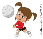 girl playing volleyball with... | Shutterstock .eps vector #726291115