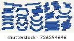flat vector ribbons banners... | Shutterstock .eps vector #726294646