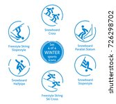 winter sports icons set  4 of 4 ... | Shutterstock . vector #726298702