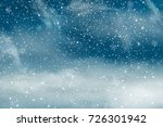 christmas landscape with... | Shutterstock .eps vector #726301942