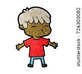 cartoon curious boy   Shutterstock .eps vector #726303082