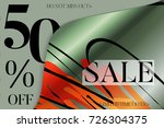 sale advertisement banner on... | Shutterstock .eps vector #726304375