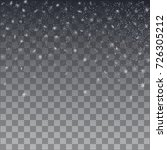 snowflake vector. falling...   Shutterstock .eps vector #726305212