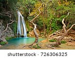 neda waterfalls  greece. one of ... | Shutterstock . vector #726306325