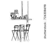 vector sketch of bar counter... | Shutterstock .eps vector #726308698