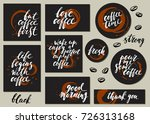 set of coffee cards with... | Shutterstock .eps vector #726313168