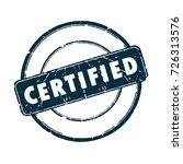 circular label with certified... | Shutterstock .eps vector #726313576