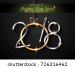 2018 happy new year background... | Shutterstock .eps vector #726316462
