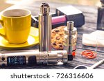 still life with electronic... | Shutterstock . vector #726316606