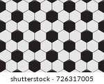 black and white soccer ball... | Shutterstock .eps vector #726317005