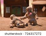 stop motion burlap puppets | Shutterstock . vector #726317272