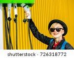 power supply station for... | Shutterstock . vector #726318772