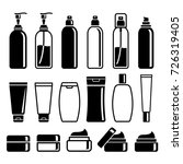 set of cosmetics bottles.... | Shutterstock .eps vector #726319405