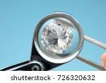 round diamonds is being looked...   Shutterstock . vector #726320632