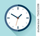 clock icon in flat style  timer ... | Shutterstock . vector #726321358
