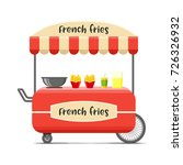 french fries street food cart.... | Shutterstock .eps vector #726326932