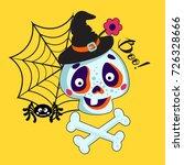 cartoons skull and bones...   Shutterstock .eps vector #726328666