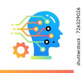 flat icon machine learning.... | Shutterstock .eps vector #726329026