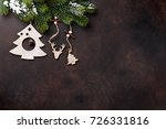 christmas stone background with ... | Shutterstock . vector #726331816