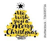 we wish you a merry christmas...   Shutterstock .eps vector #726335716