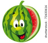 happy melon cartoon | Shutterstock .eps vector #72633616