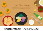 korean traditional food for... | Shutterstock .eps vector #726342022