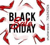 black friday shopping banner.... | Shutterstock .eps vector #726342526