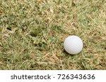 golf ball on course | Shutterstock . vector #726343636