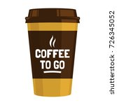 disposable coffee cup flat... | Shutterstock .eps vector #726345052