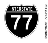 interstate highway 77 road sign ... | Shutterstock .eps vector #726345112