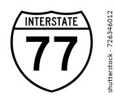 interstate highway 77 road sign ... | Shutterstock .eps vector #726346012