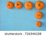 border of little orange... | Shutterstock . vector #726346108