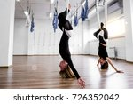 young women practice the