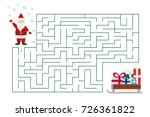 christmas maze game for... | Shutterstock .eps vector #726361822