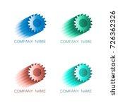 logo symbols cogwheel in colors ... | Shutterstock .eps vector #726362326