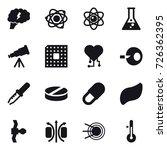 16 vector icon set   brain ... | Shutterstock .eps vector #726362395