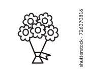 bouquet of flowers vector line... | Shutterstock .eps vector #726370816