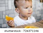 beautiful baby boy in the... | Shutterstock . vector #726371146