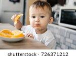 beautiful baby boy in the... | Shutterstock . vector #726371212