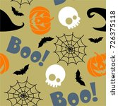 halloween theme seamless... | Shutterstock .eps vector #726375118