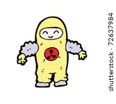person in radiation suit cartoon | Shutterstock .eps vector #72637984
