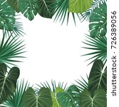 tropical jungle background with ... | Shutterstock .eps vector #726389056