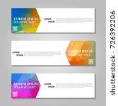 vector abstract banner | Shutterstock .eps vector #726392206