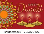 happy diwali with ornament of... | Shutterstock .eps vector #726392422