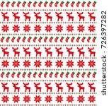 christmas seamless pattern ... | Shutterstock .eps vector #726397282