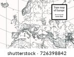 physical map of europe. ancient ... | Shutterstock .eps vector #726398842