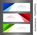 set three colorful abstract... | Shutterstock .eps vector #726399052