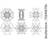 festive geometric pattern for... | Shutterstock .eps vector #726406756