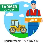 farmer concept. detailed... | Shutterstock .eps vector #726407542